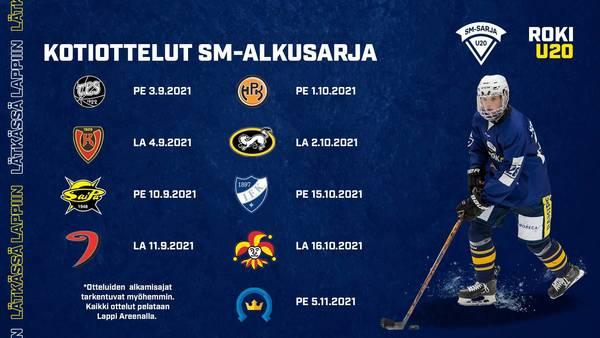 U20 SM-alkusarjan otteluohjelma julkaistu - RoKi U20 kausi käyntiin 3.9.