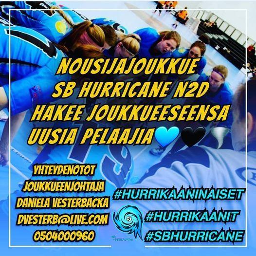SB Hurricane N2D joukkueeseen pelaajahakukäynnissä!