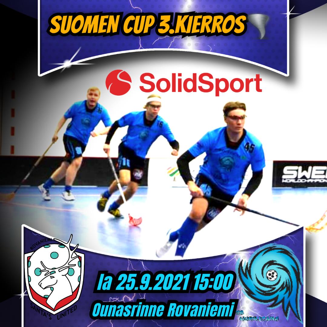 Hurrikaanimiesten Suomen Cup peli näkyy Solidsportissa ilmaiseksi!