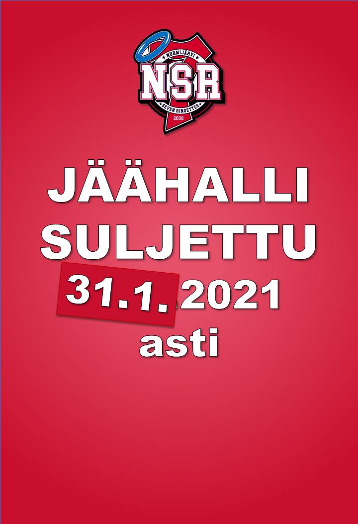 Klaukkalan jäähalli SULJETTU 31.1.2021 asti