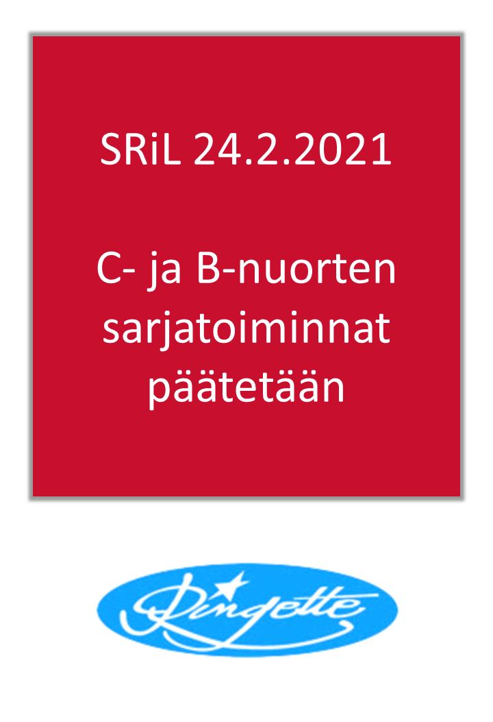 SRiL: C- ja B-nuorten sarjatoiminnat päätetään kauden 2020-2021 osalta