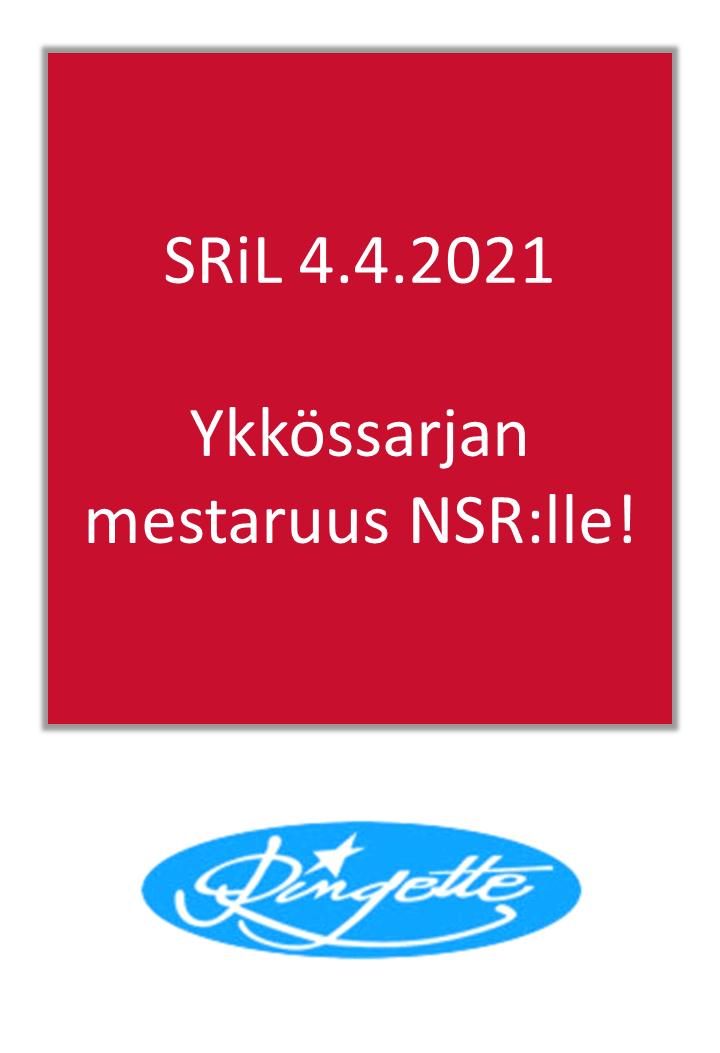Ykkössarjan mestaruus NSR:lle!