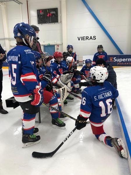 U11 aloitti uuden vuoden pienpeleillä kotiturnauksessa Sodankylässä