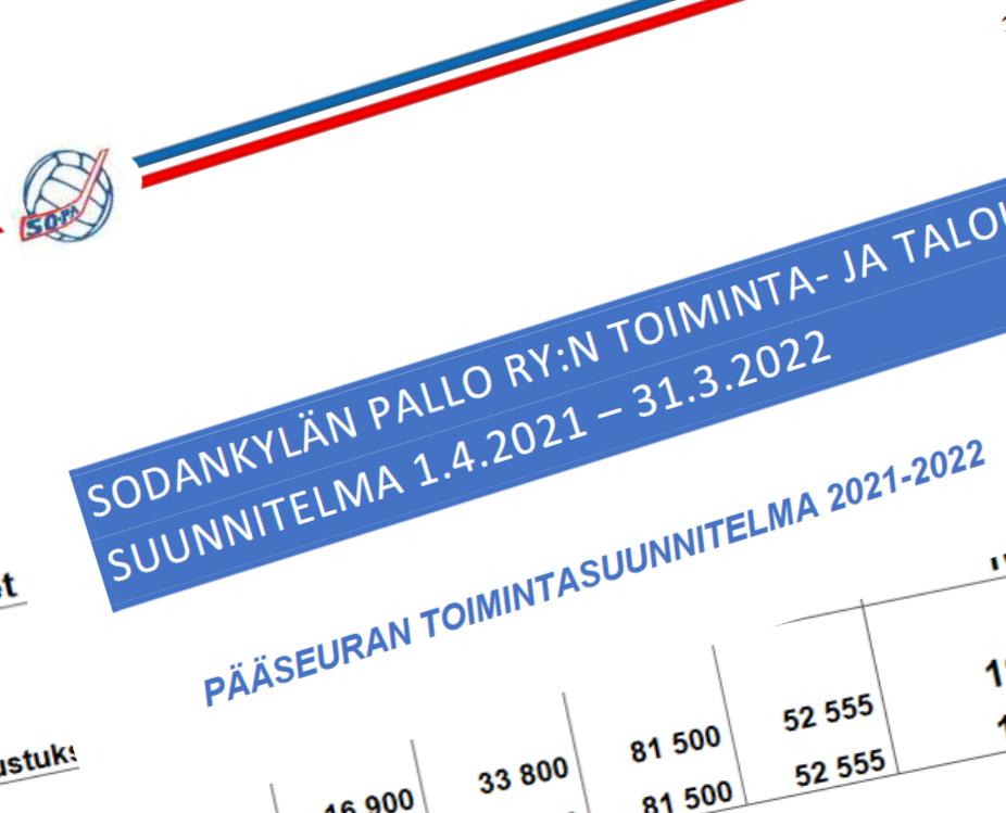 Sodankylän Pallo ry:n vuosikokouspäätöksiä