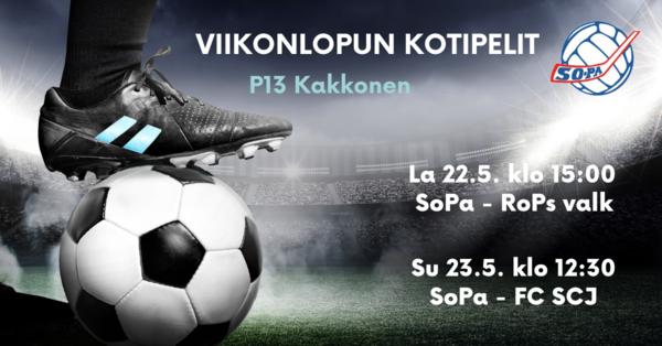 SoPa P13 -junnujen kauden avauspelit kotikentällä Rovaniemen joukkueita vastaan