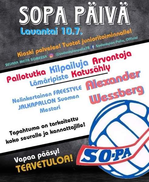 Tervetuloa Sodankylän Pallon SoPa-päivään!