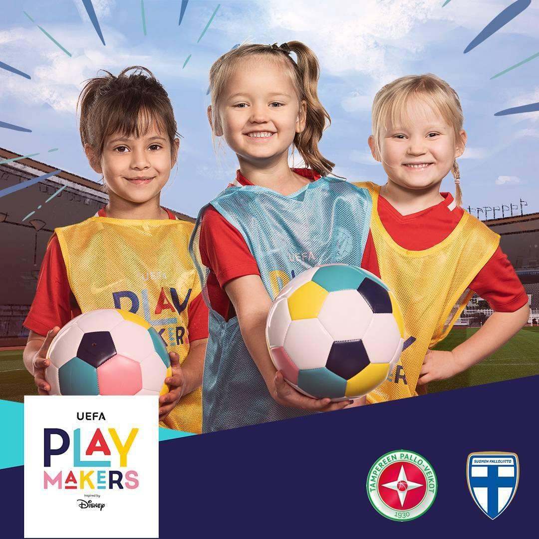 Syksyn UEFA Playmakers-jalkapallokoulu 5-8-vuotiaille tytöille