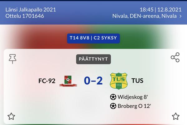 FC-92 vs TUS 0-2
