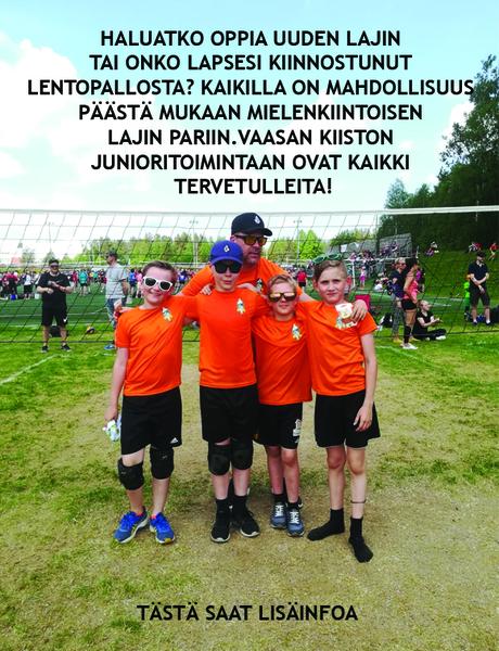 Tule Kiistoon pelaamaan lentopalloa!