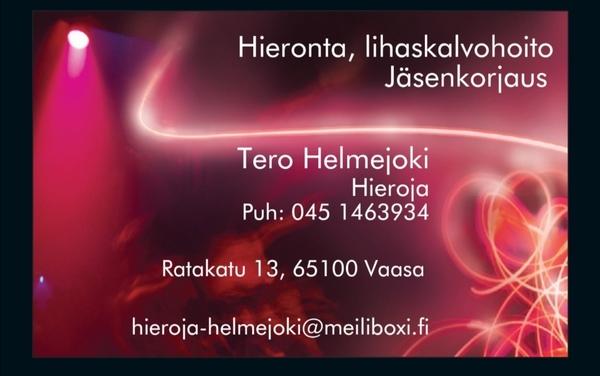 Hieroja Jäsenkorjaaja Tero Helmejoki