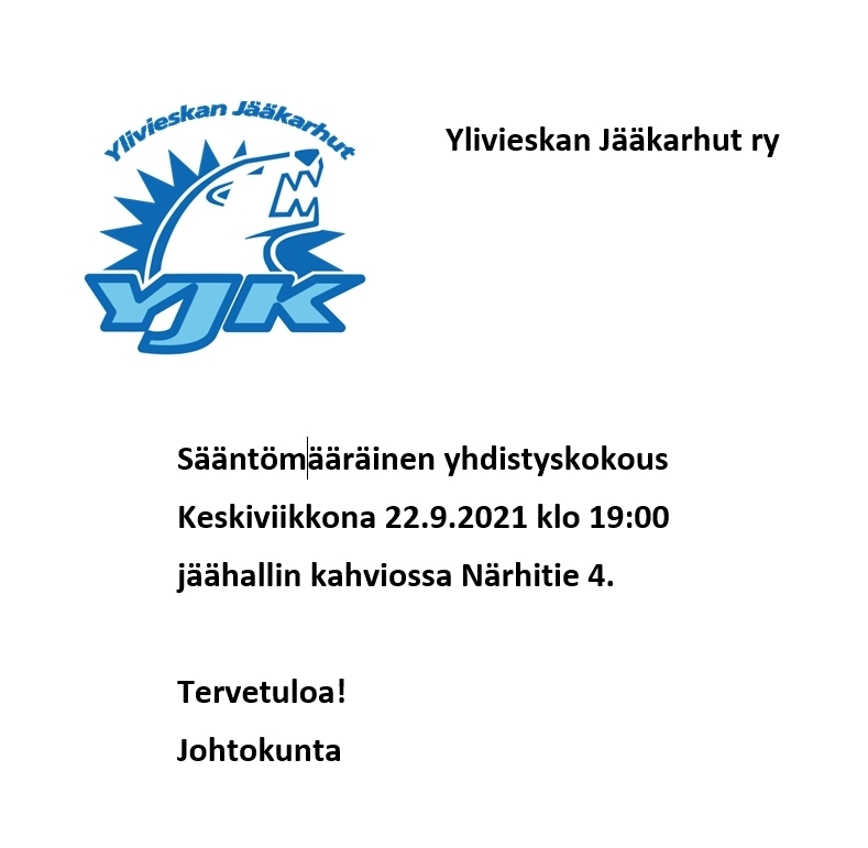 Kutsu Yhdistyskokoukseen 22.9.2021