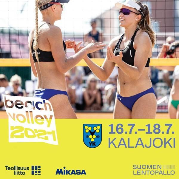 Beach Volleyn sm-osakilpailu Kalajoella