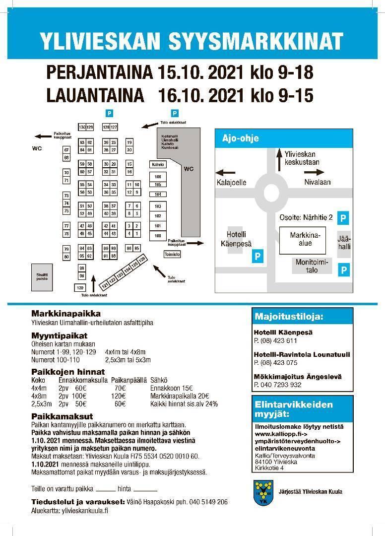 Syysmarkkinat 15.-16.10.2021