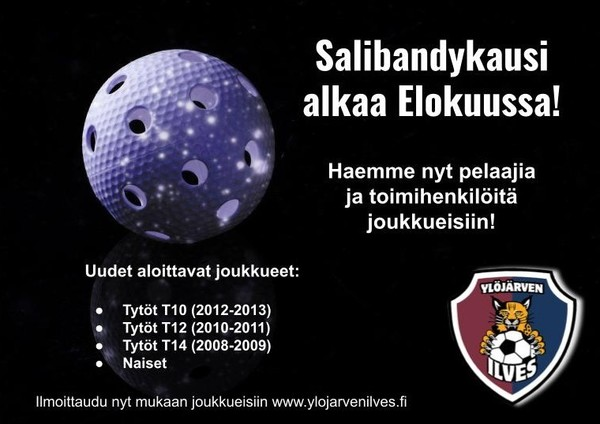 Salibandyjoukkueet aloittavat kauden 2021-22 elokuussa! Ilmoittaudu mukaan!