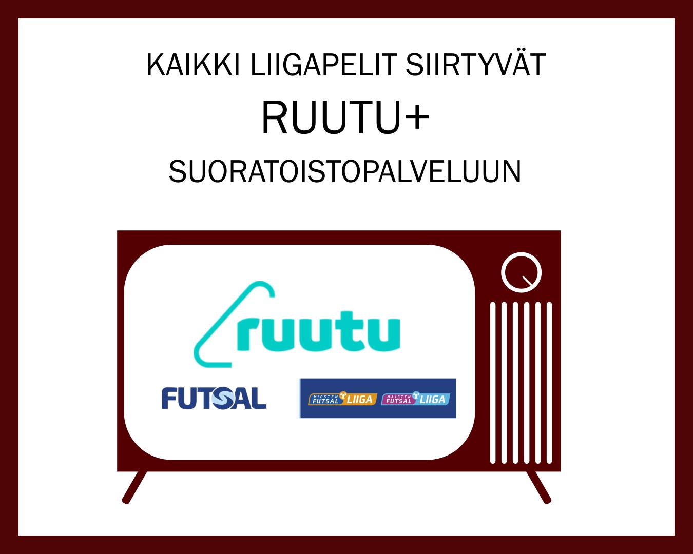 Naisten futsal-liigan pelit jatkossa nähtävissä Ruutu+ palvelussa!